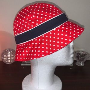 NEW! Youth polka adorned Bucket Cap